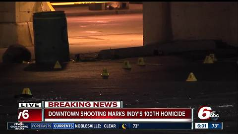 Man shot, killed in downtown Indy in city's 100th homicide of 2017