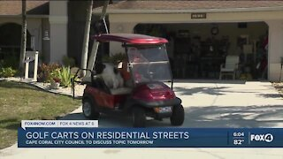 Golf carts on residential streets