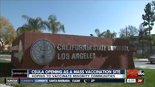 Governor Gavin Newsom announces Cal State LA will be used as mass vaccination site