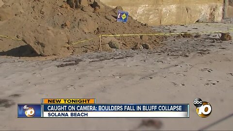 Caught on Camera: Solana Beach bluff collapse