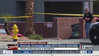 Hostage situation turns into police shooting - Video