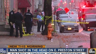 Man shot in the head on E. Preston Street - Video