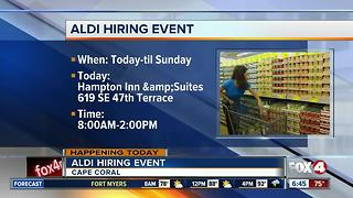 Aldi hosting hiring event for Lee County stores - Video