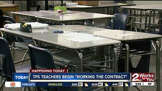 TPS teachers begin 'work the contract' - Video