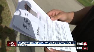 Man says HOA is giving traffic citations - Video