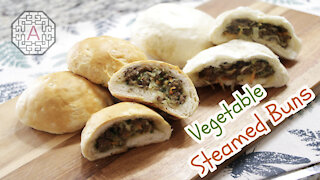 Korean Steamed Buns with Vegetables and Meat (YaChae HoBbang, 야채 호빵) | Aeri's Kitchen