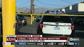 2 dead, 1 injured in shooting near Sahara & Valley View - Video