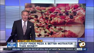 Pizza better motivator than money?