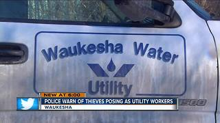 Waukesha police warn residents of utility worker scam - Video