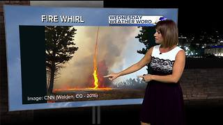 Rachel's Wednesday Wx Word: FIRE WHIRL - Video