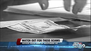 Beware these active scams - Video