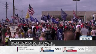 President Trump supporters rally in Phoenix