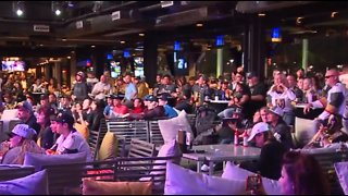Golden Knights fans take over Topgolf for Game 2 watch party