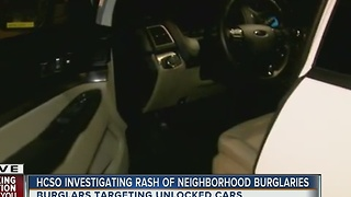 HCSO investigating rash of neighborhood burglaries in Riverview - Video