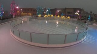 Children get free ice skating lessons at Indian Creek Plaza in Caldwell