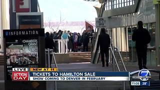 'Hamilton' tickets go on sale in Denver