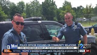 Police officer focuses on community relations - Video