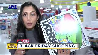 Black Friday shopping underway at Toys R Us