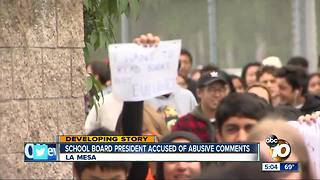 School board president accused of offensive comments - Video