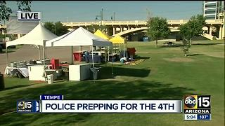 Police prepping for Fourth of July security in Tempe - Video