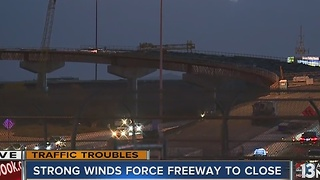 Interstate 215 reopens after closure caused by debris - Video