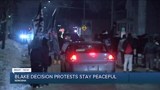 Blake decision protests remain peaceful overnight