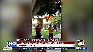Family escapes from fire at Spring Valley apartment
