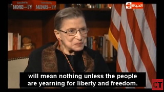 Watch: The Moment a Camera Caught Ruth Bader Ginsburg Trashing the Constitution