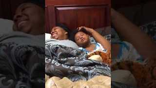 Grandma Helps Drowsy Grandson Fall Asleep - Video