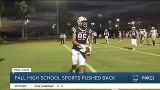 Fall High School sports pushed back