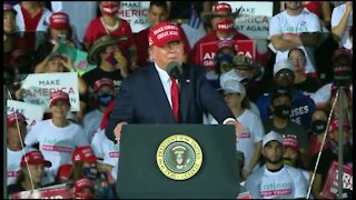 President Trump touts accomplishments during late-night rally in South Florida