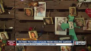 Victims' pictures disappear at Healing Garden memorial - Video