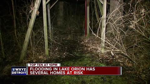 Flooding fears in Lake Orion has families on edge