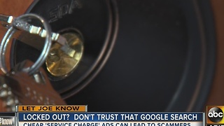 Need a locksmith? Watch out for scams on Google - Video