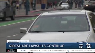 Rideshare Lawsuits Continue
