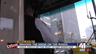 KCATA getting ready for dangerous roads Tuesday - Video