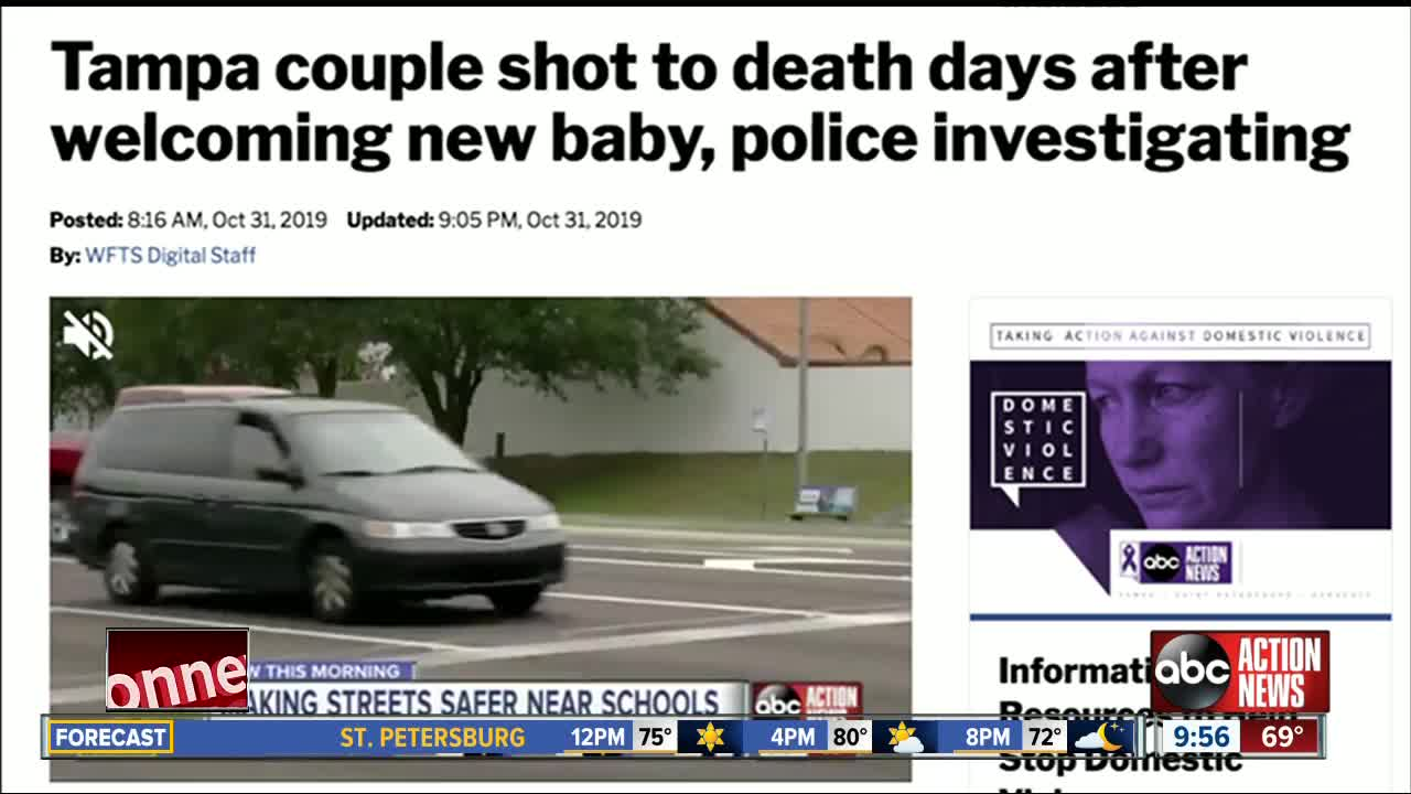 Man arrested, accused of killing Tampa couple days after welcoming new baby