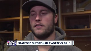 Matthew Stafford plans to play through back pain