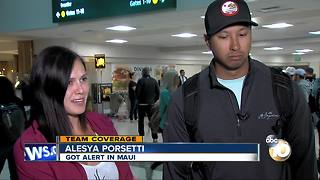 Hawaii vacationers return to San Diego after false missile alert - Video
