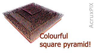 Colourful square pyramid!