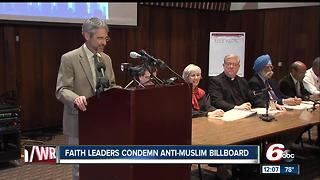 Faith leaders comdemn anti-Muslim billboard - Video