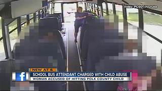 Deputies: Polk County Schools Bus Attendant arrested for striking special needs child on bus - Video