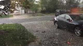 Hail Storm Rolling Through Denver's Berkeley Neighborhood - Video
