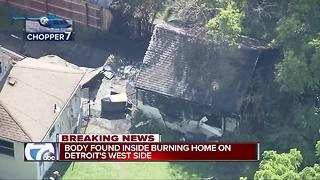Crews find body after house fire in Detroit - Video