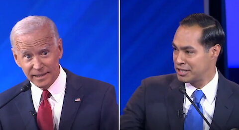 "Julian Castro to Joe Biden: ""Are you forgetting what you said 2 minutes ago?"""