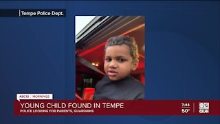 Child found alone in Tempe, police looking for parents