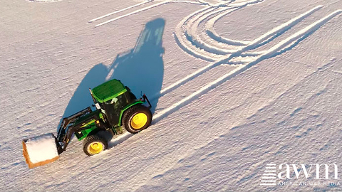 Farmer Writes Poignant Message In Freshly Fallen Snow, Doesn't Care It Will Offend Some