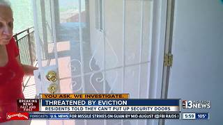 Elderly people facing eviction over security door fight - Video