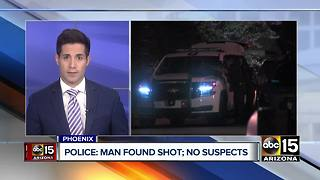 Man found shot in Phoenix, suspect at large - Video