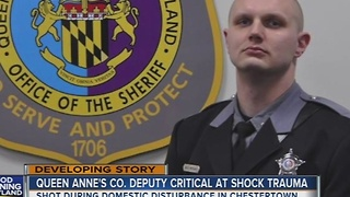Queen Anne's sheriff's deputy in critical condition after shooting - Video